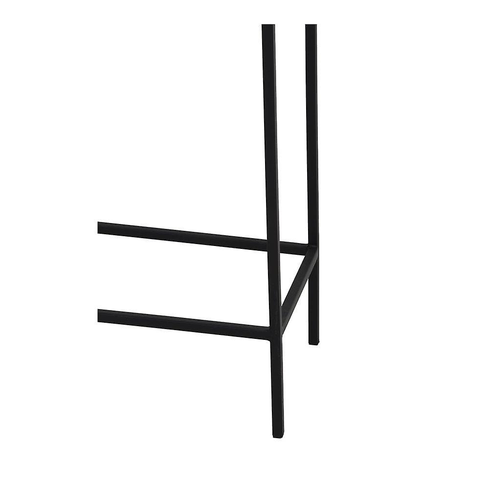 Ensemble de table latérale légère et vivante de 2 Max 30x30x120cm Hartsville Dark Brown Bronze