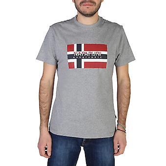 Napapijri Original Men Spring/Summer T-Shirt - Grey Color 41696
