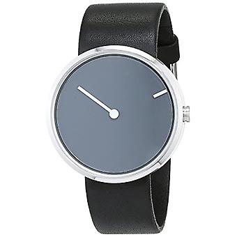 Jacob Jensen Unisex Quartz analogue watch with leather band Curve Series 251