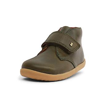 Bobux step up olive green desert boots