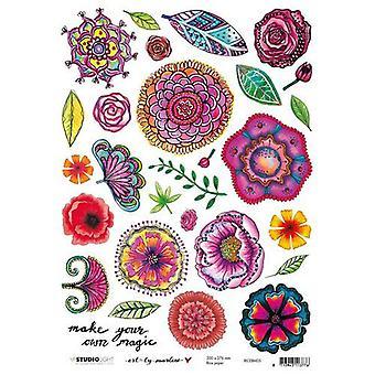 Studio Licht Reis Papier A4 Kunst von Marlene 4.0 nr 05 RICEBM05