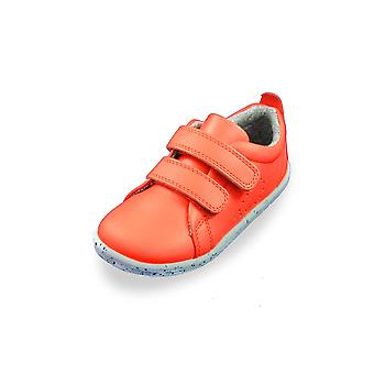 Bobux i-walk & kid + grass court orange trainer shoes