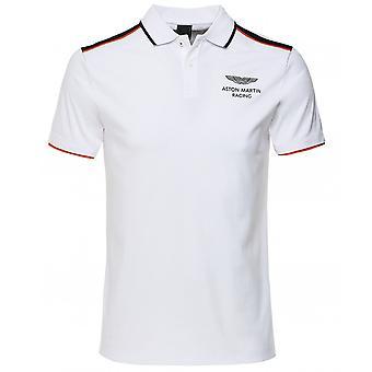 Hackett Slim Fit Striped Shoulder Polo Shirt
