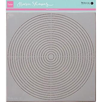 Marianne Design Stencils Karin's basic shape: circle PS8006