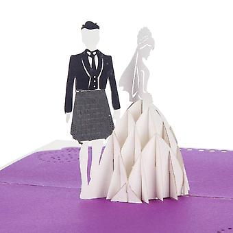 Cardology Scottish Bride And Groom Pop Up Card