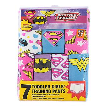 DC Comics Girls' Kleinkind 7-Pack, Justice League, 3T