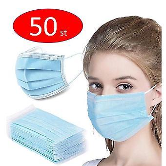 50PCS Cara protectora desechable anti-polvo máscara, munskydd