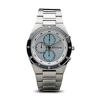 BERING zonne-Analog Man met stainless steel band 34440-707