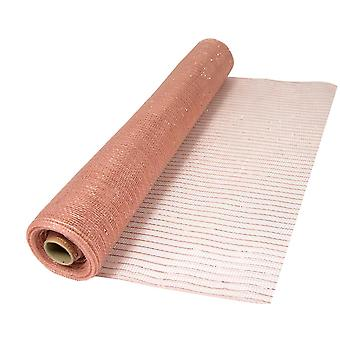 Metallic Rose Gold 53cm x 9.1m Deco Mesh Roll for Wreath Making & Floristry Crafts