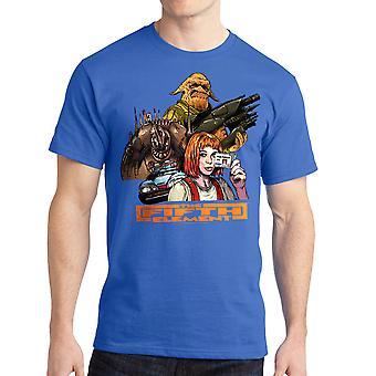 Le cinquième élément groupe bleu Royal T-shirt homme