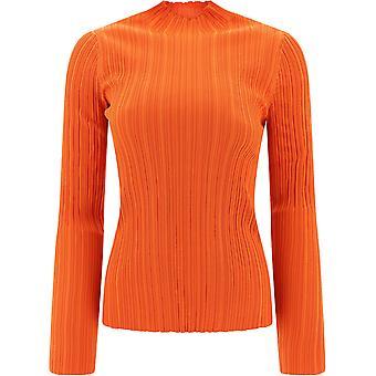 Acne Studios A60145poppyred Women's Orange Cotton Sweater