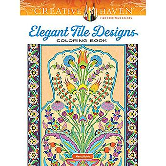 Creative Haven Elegant Tile Designs Coloring Book by Marty Noble - 97
