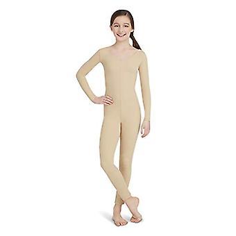 Capezio Big Girls' Team Basic Long Sleeve Unitard, Nude, Medium