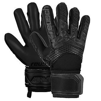 Reusch Attrakt Freegel S1 Mens Adults Goalkeeper Goalie Glove Black