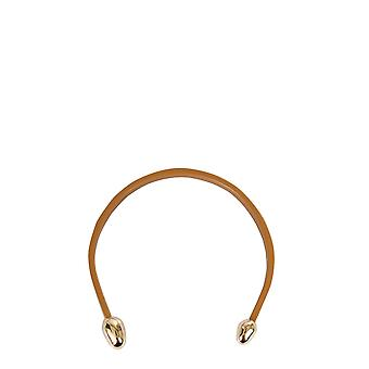 Bottega Veneta 617678ve3m12581 Women's Beige Leather Necklace