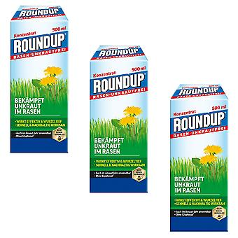 Sparset: 3 x ROUNDUP® Lawn Weed-Free, 500 ml