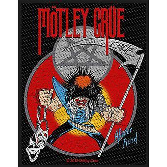 Motley Crue Patch Allister Fiend Band Logo Official Woven (10cm x 10cm)