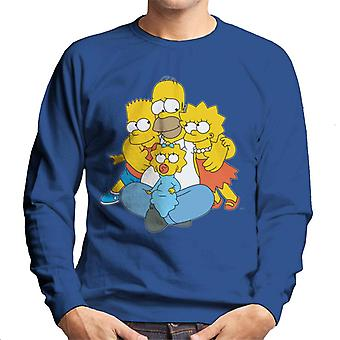 The Simpsons All Eyes On You Men's Sweatshirt