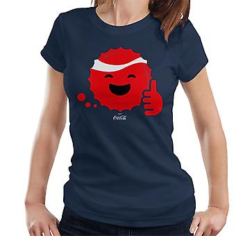 Coca Cola Like Smiley Bottle Cap Women's Camiseta