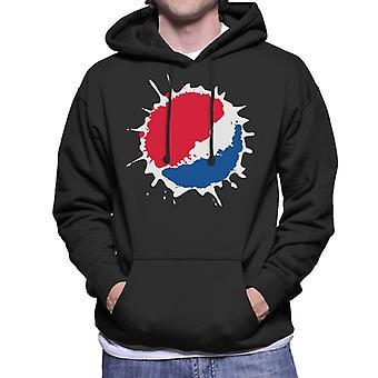 Pepsi Splash Logo mannen Hooded Sweatshirt