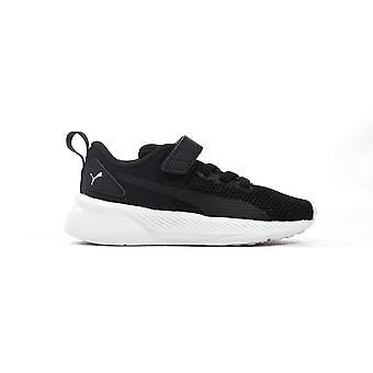 Puma Flyer Runner Infant Toddler Kids Trainer Shoe Black/White