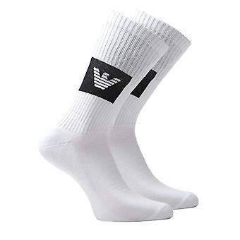 Emporio Armani Loungewear White Logo Socks