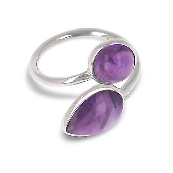 ADEN 925 Sterling Silver Amethyst Ring (id 4072)