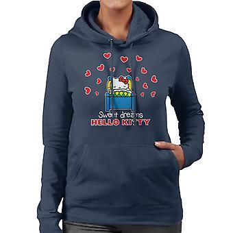 Hello Kitty Kjærlighet Hjerte Søte Drømmer Kvinner's Hette Sweatshirt