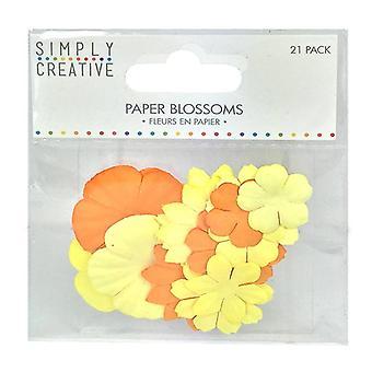 Yksinkertaisesti luova paperi kukkii - keltainen