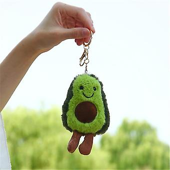 13cm Fruit Avocado Pendant Cute Doll Key Chain - Plush Plant Ladies Bag Pendant