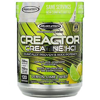Muscletech, Performance Series, CREACTOR, Creatine HCI, Lemon-Lime Twist, 8.40 o