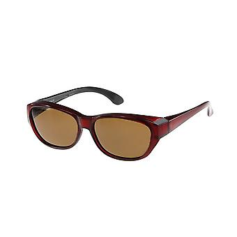 Sunglasses Unisex red with brown lens Vz0027pl