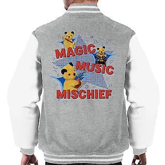Sooty Magic Music Mischief Men's Varsity Jacket