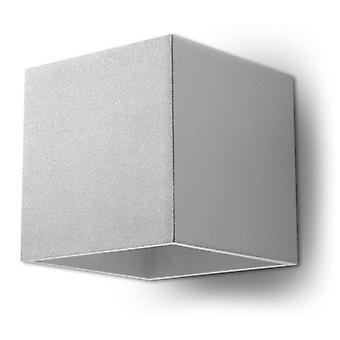 Sollux QUAD - 1 Light Up Down Wall Light Grey, G9