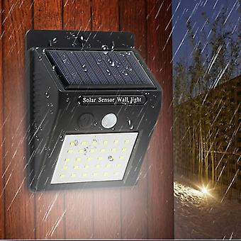 Lampa solara cu led-uri de perete cu impermeabil, senzor de miscare pentru gradina in aer liber,