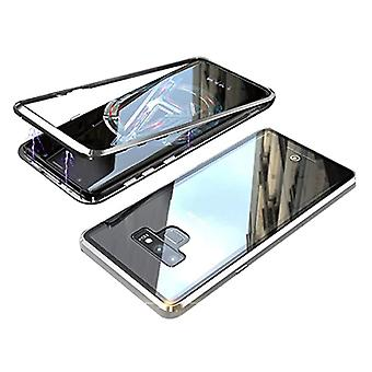 Stuff Certified® Samsung Galaxy S10 Magnetic 360 ° Case with Tempered Glass - Full Body Cover Case + Screen Protector Silver