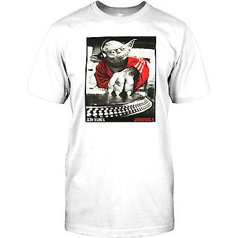 Yoda DJ - Jedi Tunes - Cool Star Wars geïnspireerd Mens T Shirt