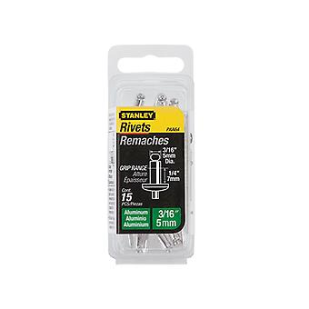 Stanley Tools 1-PAA64 Aluminium Rivets Medium 5mm (15) STA1PAA64