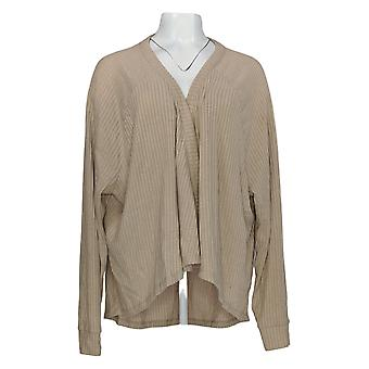 Anybody Women's Sweater Brushed Rib Hacci Cocoon Cardigan Brown A310154
