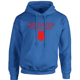 Mistletow Christmas Xmas Unisex Hoodie 10 Colours (S-5XL) by swagwear