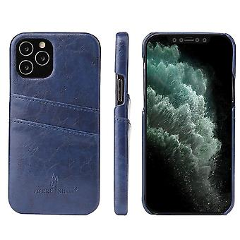 Pour iPhone 12 Pro/12 Case Deluxe Leather Wallet Back Shell Slim Cover Blue