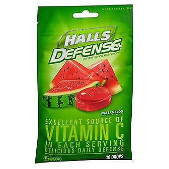 Halls Defense Vitamin C Drops, Watermelon 30 each