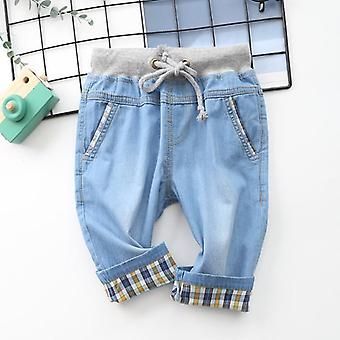 Boy's Shorts- Casual Fashion Solid Color Cotton, Thin Denim Fabric Shorts