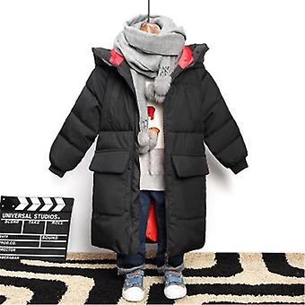 Graffiti Camouflage Parkas Jacket For Teenagers Boys Winter Thick Long Hooded Jackets