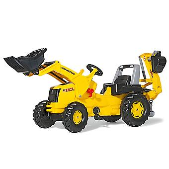 Rolly new holland construction B110C tractor with frontloader & rear excavator