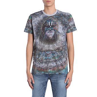 Etro 1y82041043 Men's Grey Cotton T-shirt