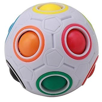Strange-shape Magic Cube Desk-toy, Anti-stress Rainbow Football Puzzles Stress