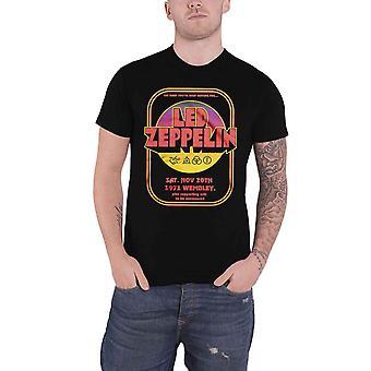 Led Zeppelin T Shirt 1971 Wembley Band Logo new Official Mens Black