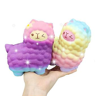 Jumbo Sheep Alpaca Squishy Cute Galaxy Slow Rising Animal Squishy Tot (alpaca)