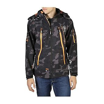 Geographical Norway - Clothing - Jackets - Torry_man_camo_black-orange - Men - black,orange - XL
